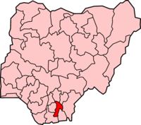 Map of Abia State