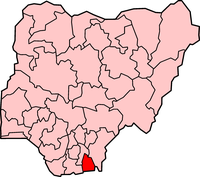 Map of Akwa Ibom State