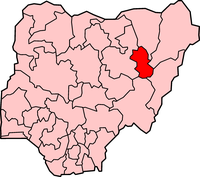 Map of Gombe State