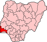 Map of Ogun State