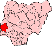 Map of Oyo State
