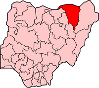 Map of Yobe State